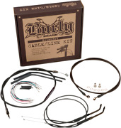 Burly B30-1016 Extended Cable And Brake Line Kit 16in Apehangers Harley