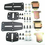 55-72 Chevy Ls Engine Slider Adapter Brackets And Poly Mounts With High Mount Ac