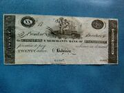 Maryland Farmers And Merchants Bank Baltimore 20 Obsolete Note Gem Uncirculated