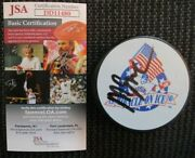 Mike Eruzione Signed Team Usa Miracle On Ice Puck Jsa Authenticated Coa Dd11480