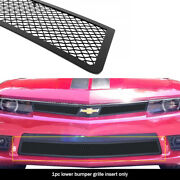 Fits 2014-2015 Chevy Camaro Ss Lower Bumper Stainless Black Mesh Grille Insert