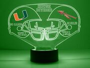 Miami Florida State House Divided Personalized College Football Sports Fan Lamp