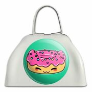 Cute Kawaii Cat Donut White Metal Cowbell Cow Bell Instrument