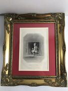 Rare 1844 1st American Print Of Santa Claus Professionally Framed The New Mirror