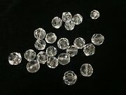 22 Vintage Murano Italy Crystal Glass Beads Prism Lamp Parts, 5/8 Dia 1.7 Cm