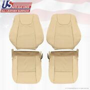 Driver Passenger Perforated Leather Covers Tan For 2010 To 2014 Lexus Rx350 450