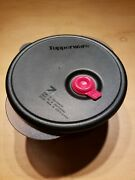 Tupperware Vent N Serve 3-1/2 Cup Small Deep Round Microwave Container Black