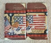 Home Trends Stars And Stripes Usa Flag Wallpaper Border 10 Yards Susan Winget New