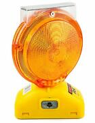 Rk Safety Blight-st Solar Rechargeable Barricade Amber Led Warning Lights | Traf