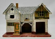 Antique Wooden Cardboard Miniature Toy Stable House German