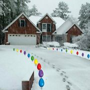 Giant Christmas Light Bulb Pathway Markers Lawn Decorations - Free Shipping