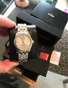 Tudor Stainless 31mm Silver Dial Glamour Box And Papers Unworn 53000 Ref. Unisex