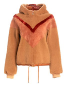 See By Chloandeacute Reversible Chevron Shearling Jacket New With Tags Sale