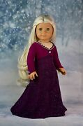 18 Doll Clothes Frozen 2 Inspired Elsa Dress Holiday Outfit For American Girl