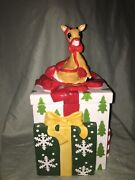Lenox Rudolph The Red-nosed Reindeer Cookie Jar With Box