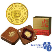 2010 10 Ram Year Of The Tiger 1/10oz Gold Proof Coin