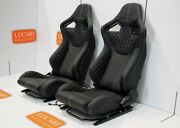 Rxi High Base Pair Full Leather White Stitch Front Seats Fit Land Rover Defender
