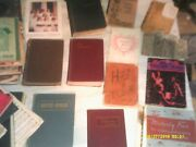 Large Lot Of Vintage Hymnal Hymn Song Books And Other Old Lot Weathered
