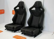 Rxi Low Base Pair Full Leather White Stitch Front Seats Fit Land Rover Defender