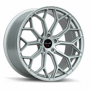 22 Gianelle Monte Carlo Silver 22x9 22x10.5 Wheels Rims Fit Bentley Continental