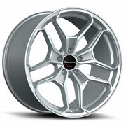 22 Giovanna Huraneo Silver 22x9 22x10.5 Concave Wheels Rims Fits Dodge Charger