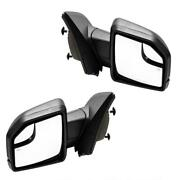 Power/heated Stock Mirrors Replacement W/ Led Signal For 15-18 Ford F150 8 Pin