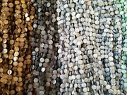 Big Lots, Mop Shell Flat Round Beads,11, 12, 15mm Strand Bundles, Natural And Dyed