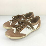 Ecco 39 8- 8.5 Spikeless Womenand039s Golf Shoe Wingtip Brown Leather
