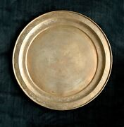Copper Tray / Charger Plate Large Antique, Maker's Mark Persian Geometric