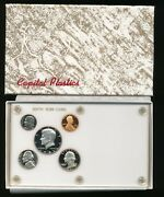 1981 Proof Coins In This Vintage Capital Plastic Coin Holder White Birth Year M