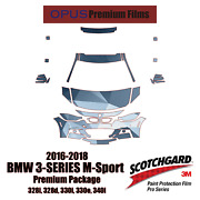 3m Pro Series Precut Paint Protection Clear Bra Kit For Bmw 3 Series M 2016-2018