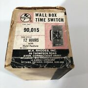 M H Rhodes Wall Box Timer Switch New 12 Hour W/ Hold Mark-time Heater Fan Light
