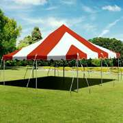 Premium 20x20' Pole Tent Waterproof Red White Party Event Canopy Aluminum Poles