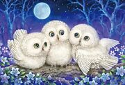 1000 Piece Jigsaw Puzzle Forest Whisper - Owl Triplets Andoline