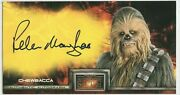 Topps Star Wars Revenge Of The Sith Widevision Peter Mayhew Chewbacca Autograph
