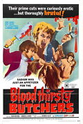 73864 Bloodthirsty Butchers Movie 1970 Horror Wall Print Poster Ca