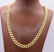 9mm Miami Cuban Royal Link Chain Diamond Cut Necklace Real 10k Yellow Gold
