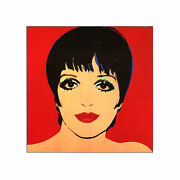 Limited Edition Lithograph By Andy Warhol Of His Iconic Print Of Liza Minnelli