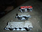 Vintage Tootsietoy Die Cast New York Central Railroad Engine Tender Caboose Rare