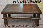 24 Chinese Dynasty Huanghuali Wood Tea Table Tea-things Teapoy End Table Statue