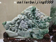 Chinese A Class Jadeite Emerald Jade Carving Journey To The West 4 People Statue