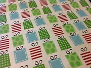 42🌟vintage Christmas Holiday Gift Wrapping Paper Remnant Stylized Gift Boxes
