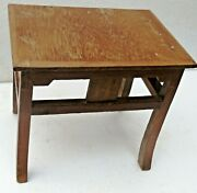 Antique Wooden Table Small Occasional /coffee / Display Stool Design Legs