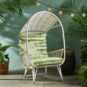 Primo Outdoor Wicker Standing Basket Chair With Cushion
