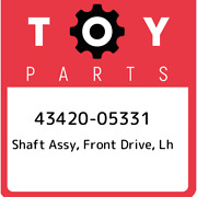 43420-05331 Toyota Shaft Assy Front Drive Lh 4342005331 New Genuine Oem Part