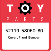 52119-58060-b0 Toyota Cover Front Bumper 5211958060b0 New Genuine Oem Part