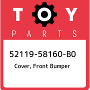 52119-58160-b0 Toyota Cover Front Bumper 5211958160b0 New Genuine Oem Part