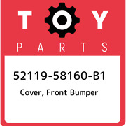 52119-58160-b1 Toyota Cover Front Bumper 5211958160b1 New Genuine Oem Part