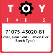 71075-43020-b1 Toyota Cover, Rear Seat Cushion For Bench Type 7107543020b1, Ne