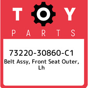 73220-30860-c1 Toyota Belt Assy Front Seat Outer Lh 7322030860c1 New Genuine